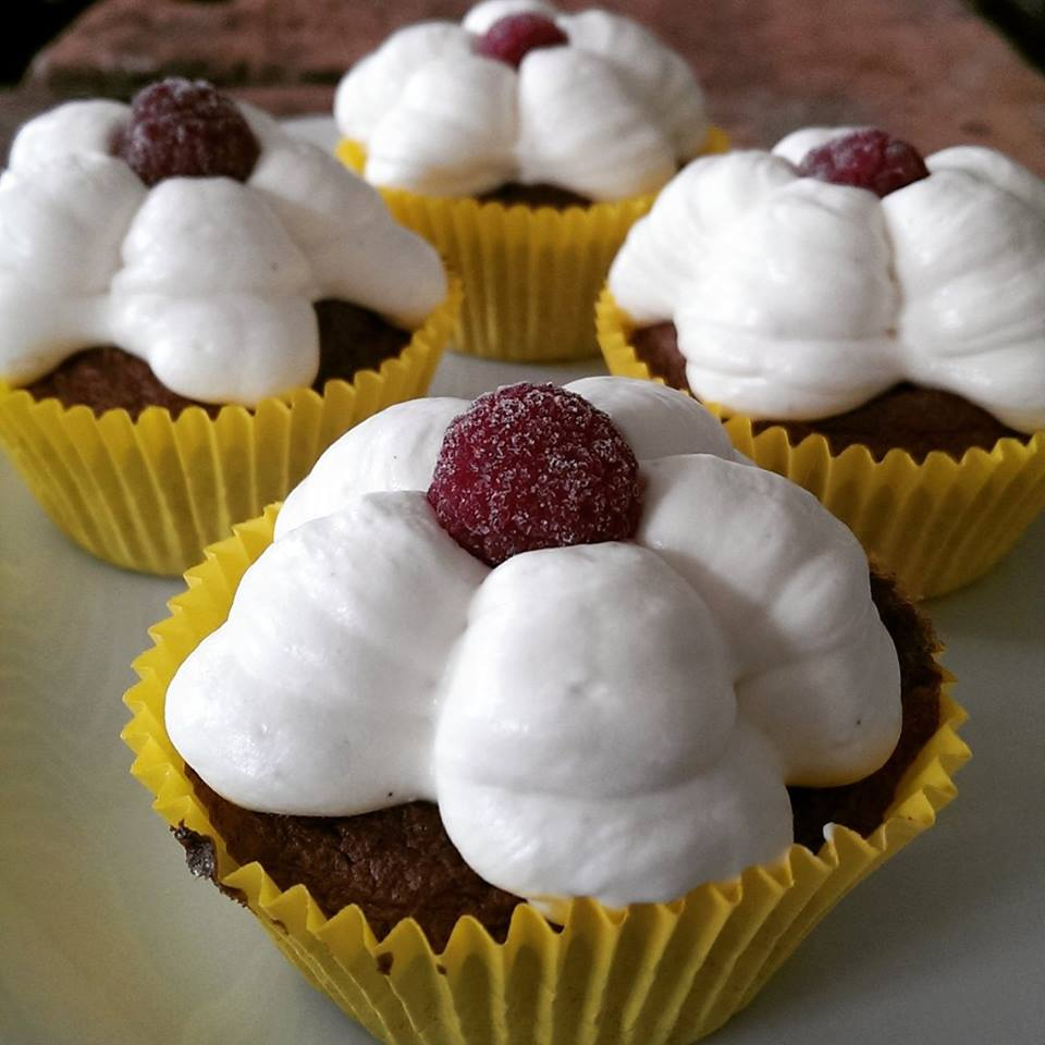 Mandelkager med vaniljecreme
