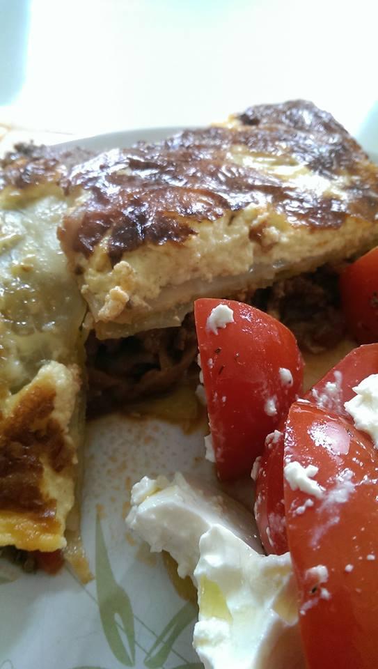 Lækker lasagne med hvidkålsplader.