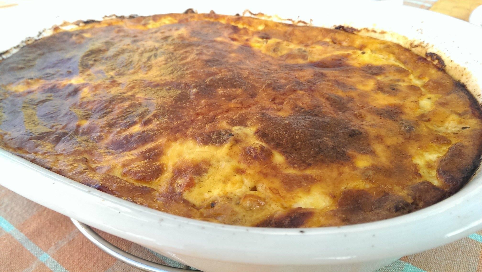 Lækker moussaka, direkte fra ovnen
