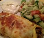 Enchiladas med hakket oksekød og hovedbrud!