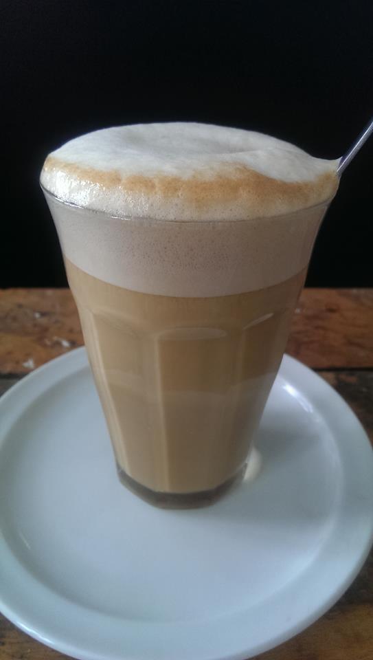 En Caffe Latte med æggemælk.... I'm in looove! :-D