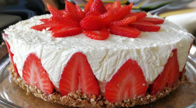 Jordbær creme kage